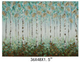 China Made 100% Handpainted Canvas Tree Art for Wall Decoration (811702102)