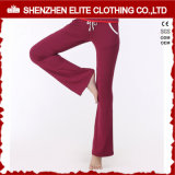 Wholesale Custom Logo Burgundy Yoga Pants Womens (ELTLI-93)
