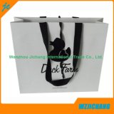 Luxury Handmade Black Hot Stamping Paper Bags with Custom Logo