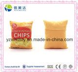 3D Digital Printing Classic Potato Chips Square Plush Cushion
