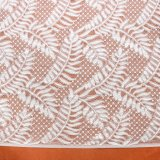 Colorful Wave Pattern Leaf-Shaped Lace Jacquard Knitted Mesh Fabric for Garment