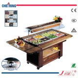 Cheering Marble Around Salad Bar Refrigeration for Buffet