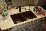 Quartz Stone Wash Sink for Kitchen Cabinet