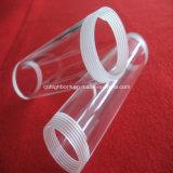 Transparent Quartz Glass Tube with Screw Ends