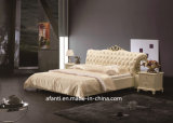 Luxury Hotel Home Furniture Modern Bedroom King Size Bed (J322-2)