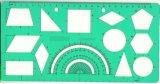 Plastic Geometry Template Ruler, School Ruler, School Stationery Rulers