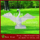 Garden Decoration Marble Stone Animal, Granite Marble White Swan Sculpture