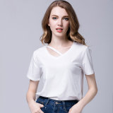 2017 New Design Women′s Blank Cotton T-Shirts