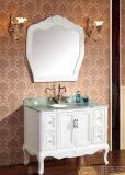 Antique Style White Oak Solid Wood Bathroom Vanity