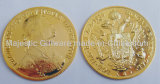 Zinc Die Cast Gold Plating 3D Coin