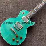 Solid Wood Lp Style Electric Guitar in Light Green (GLP-509)