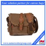 Vintage Canvas Leather Messenger Bag, Casual Shoulder Bag Crossbody (MSB-006)