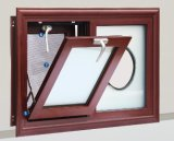 Water Proof Aluminum Double Glazing Awning Window with Steel Mesh