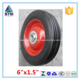"""8""""Hand Truck Steel Wheel and Bearings Solid Rubber"""