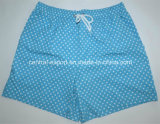 Allover Polka DOT Printed Microfiber Polyester Twill Full Elastic Men Board Short