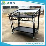 Disco Light Truss Mobile DJ Booth DJ Table with Wheels