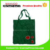 Green Tote 190t Polyester Foldable Shopping Bag