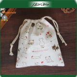 High Grade Printing Cotton Drawstring Gift Bag