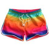 Womens Swim Shorts Swimming Surf Beach Shorts with Elastic Waist