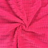 100% Polyester Grid 7 Jacquard Flannel Fleece