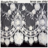 White Polyester Fashion French Lace Trim for Lady Gown From China Factory Vc-5016-3dbc