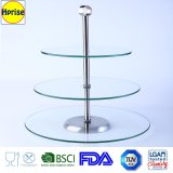 Wholesales High Quality Fashion Wedding 3 Tier Glass Cake Holder Stand