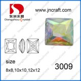 Square Crystal Stones Beads Pendant for Jewelry