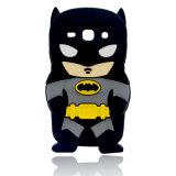 Barman Black Cartoon Silicone Phone Case of Superman Series for iPhone 7 7plus 6splus Case (XSY-001)