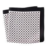 Luxury Silk Polyester Dots Plaid Flower Printed Pocket Square Hanky Handkerchief (SH-098A)