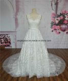 A-Line Wedding Dress French Lace Pattern Motif
