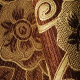 Hot Sale Chenille Woven Fabric Brown with Coffee Color