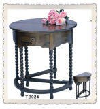 Aantique Oak Round Gateleg Hall Table (TB024)