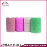 2016 Hot Sales Colorful Medical Sport Self-Adhesive Cohesive Bandage