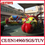 0.55mm PVC Hot Inflatable Worm Tunnel with CE Air Blower