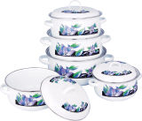Enamel Kitchenware Set Cover 5PCS ,Enamel Casserole Cookware (673D)