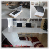 Modern Dubai Style Office Furniture Luxury Executive White Office Desks Set Curved Elegant Commercial Executive Desks