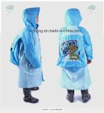 Children Cute PVC Raincoat Rain Coat with Schoolbag Cover
