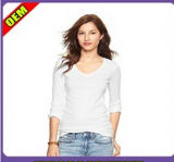 Fashion Sexy Cotton Printed T-Shirt for Women (W256)