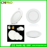 Hot Sale Frameless Round Shape 9W LED Panel Light