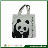 New Design High Quality White Canvas Handbag with Panda Pattern