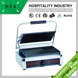 Electric Contact Grill (Top & Down Grooved Plate) Grill Surface with Enamel Coating