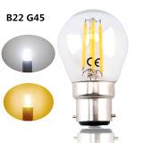 B22 G45 LED Filament Bayonet Light Bulb 4W 220V