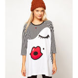 New Design Women′s Novelty T-Shirt with Printed