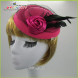 Lady Feather Hair Clip Hat Fascinator Hair Accessory Party Decoration