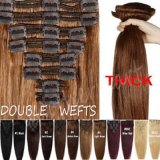 Hot Selling 6A Virgin Remy Clip in Human Hair Extensions