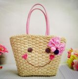 Knitting Straw Handbag Smiler Straw Bag T822