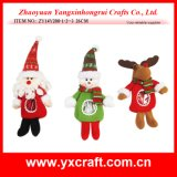 Christmas Decoration (ZY14Y200-1-2-3) Non-Woven Christmas Craft Food Products
