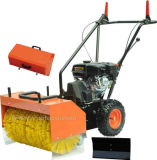 "31"" Walk Behind Sweeper Self Propelled Power Brush Broom Industrial Gas Engine"