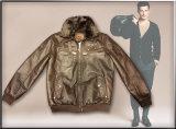 2016 New Pattern Men′s PU Jacket with Fashion Style