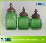 Colorful Kitchen Airtight Lids Glass Canister